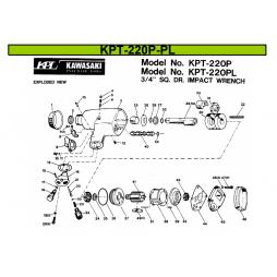 Kawasaki KPT 220P-PL Havalı Somun Sökme Makinesi İçin Yedek Parça Temini