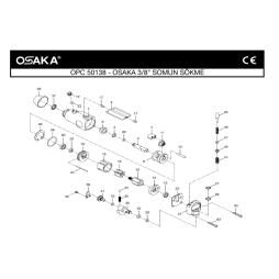 Osaka OPC 50138 Havalı Somun Sökme Makinesi İçin Yedek Parça Temini