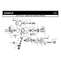 Osaka OPT-P 243 Havalı Somun Sökme Makinesi İçin Yedek Parça Temini