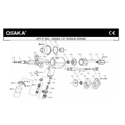 Osaka OPT-P 303 Havalı Somun Sökme Makinesi İçin Yedek Parça Temini