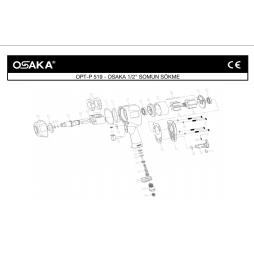 Osaka OPT-P 519 1/2 Somun Sökme Makinesi İçin Yedek Parça Temini